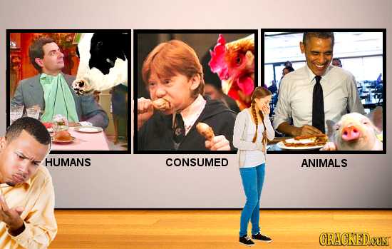 HUMANS CONSUMED ANIMALS