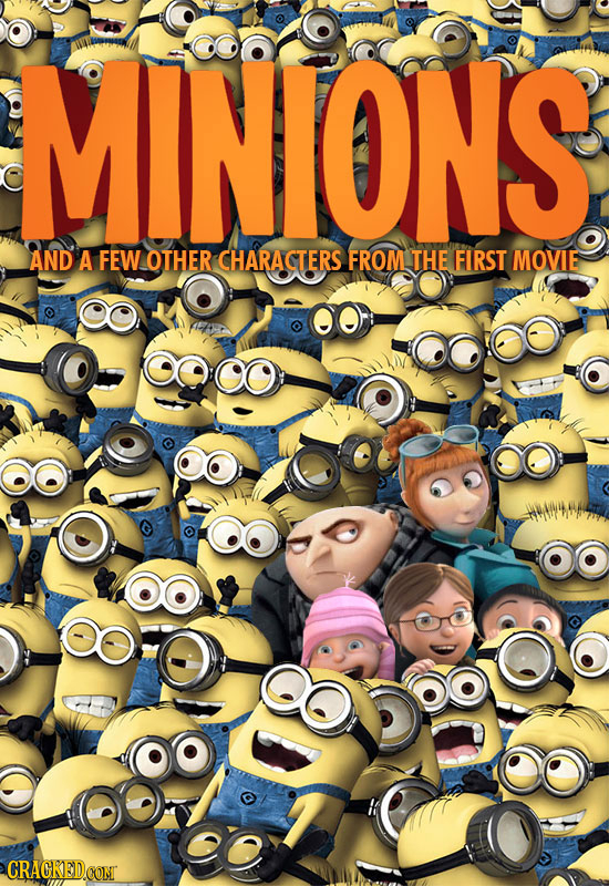 MINIONS AND A FEWOTHER CHARACTERS FROM THE FIRST MOVIE CRACKEDCONT