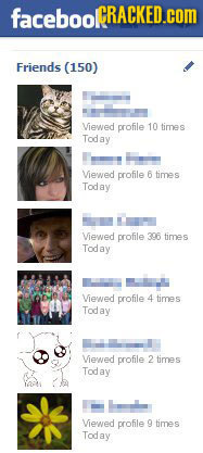 facebooCRACKED.Com Friends (150) Viewed profile 10 times Toda Viewed profile 6 time S Today Viewed profile 306 times Today Viewed profile 4 times Tod