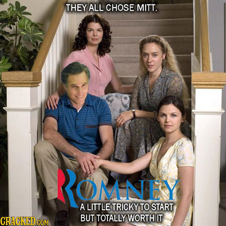 THEY ALL CHOSE MITT. ROMNEY A LITTLE TRICKY TO START BUT TOTALLYWORTH IT
