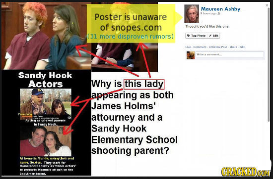Maureen Ashby Poster is aq S unaware of snopes.com Thought you'd like this one (31 more disproven rumors) Ta Plptp Edit Commet Urfolpee Shae tdt Eomam