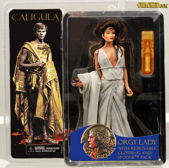 CRACKEDCO CALIGULA ORGY LADY A WARNING DO0GHAZARO WITH REMOVABLE -an Wresoesods CLOTHING AND SPOOGETM PACK