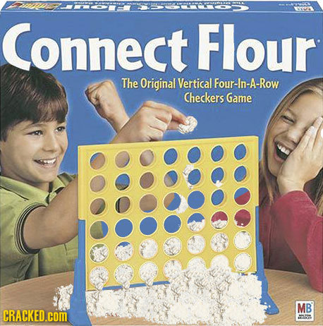 0091 Connect Flour The Original Vertical Four-In-A-Row Checkers Game MB CRACKED.COM