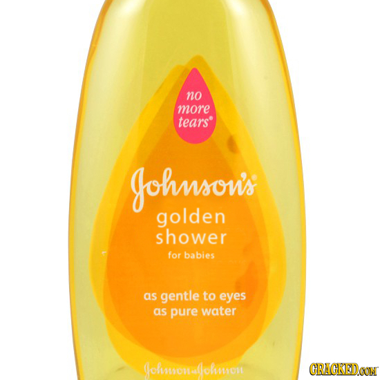 no more tears Johnsou's golden shower for babies as gentle to eyes as pure water Johmaonalolmmiom CRACKEDCON