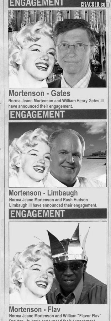 ENGAGEMMENT CRACKED.CO Mortenson Gates Norma Jeane Mortenson and William Henry Gates HIL have announced their engagement. ENGAGEMENT Mortenson . Limba