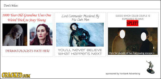 If The Universe Played By Game Of Thrones Rules