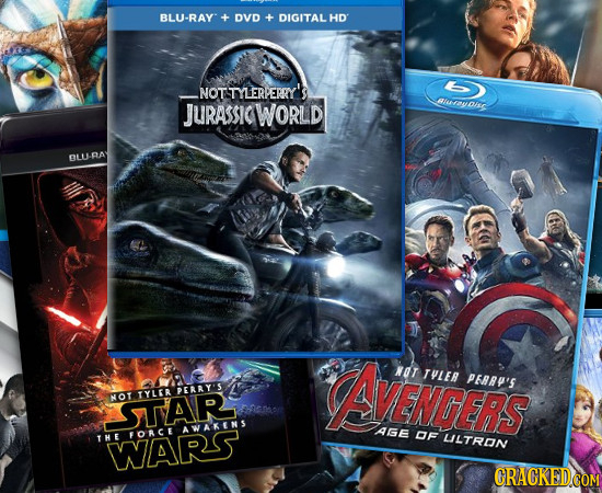 BLU-RAY DVD -+ DIGITAL HD NOTSTYLERPERRY'S JURASICWORLD Ruayons BLU-RAY ArENCERS NOT THLER PAAP'S PERRY'S NOT TYLER SUAR AWAKENS AGE FORCE DF THE LILT
