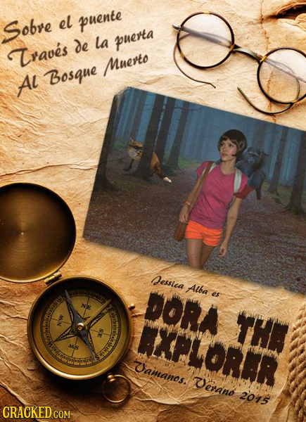 Sobre el puente de la puerta Traves Muerto AL Bosque essica DORA Alba es AXPLORAR THA ainanos. eraino 2015 CRACKED COM