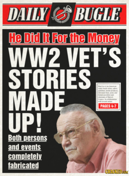 DAILY BUGLE He Did It For the Money WW2 VET'S STORIES Sis Airn MADE M0 i flfi ilie ll leiis wl Bii P 4lesasi Maal Cs a l PAGES 4-7 UP! Both persons an