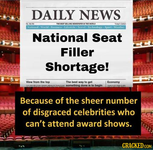 DAILY NEWS TEBEE ELTN NEEWSRAREN THE tarrt WI to ifestsv TAO ehaoloy Sport Weathr National Seat Filler Shortage! View from the top The best way to get