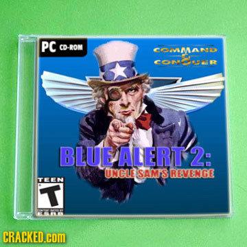PC CD-ROM COMa ConmR BLUE ALERT 2 UNCLE SAMS REVENGE TEEN T CRACKED.cOM