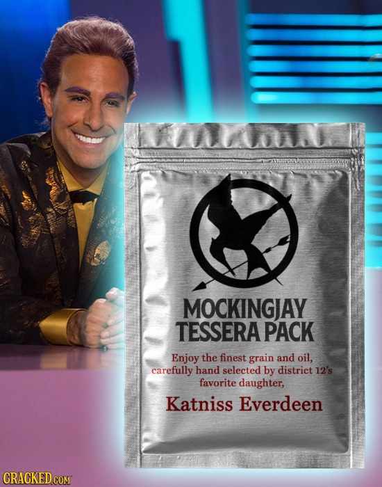 MOCKINGJAY TESSERA PACK Enjoy the finest grain and oil, carefully hand selected by district 12's favorite daughter, Katniss Everdeen