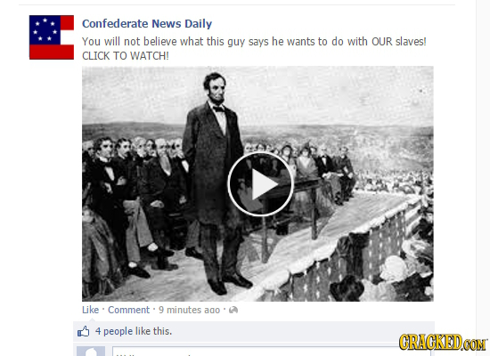 32 Moments In History (As Covered By the Modern Media)