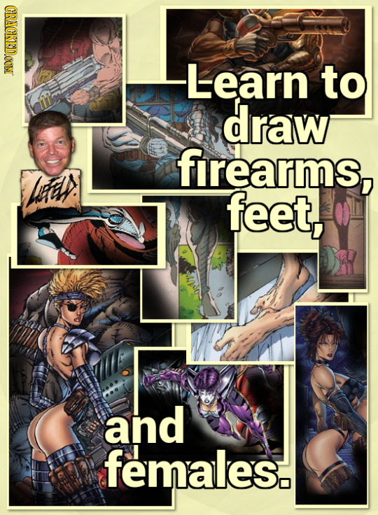 CRACKEDCON Learn to draw firearms, feet, and females.