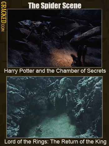 CRACKED.COM The spider Scene Harry Potter and the Chamber of Secrets Lord of the Rings: The Return of the King