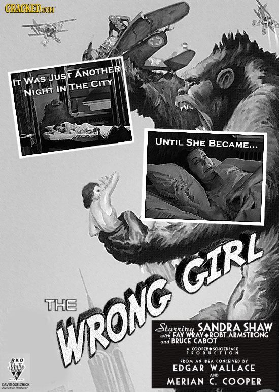 CRACKED ANOTHER JUST IT WAS IN THE CITY NIGHT UNTIL SHE BEcAME... GIRL THE Starring SANDRA SHAW WRONG with FAY WRAY ROBTARMSTRONG and BRUCE CABOT PORS