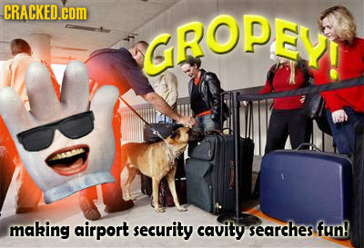 CRACKED.cOM GROPEY making airport security cavity searches fun!