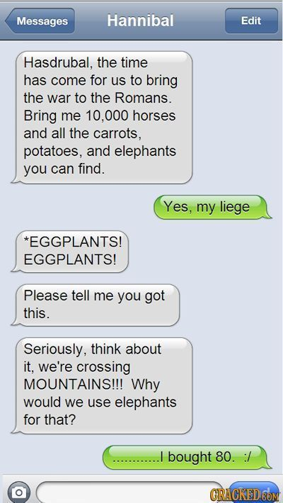 If Autocorrect Existed Throughout History