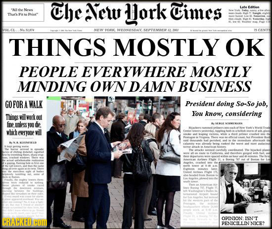 The New Jork Cimes Late taRlem WA the News THaris to Prin ot. cL N sttve NEESY YOR. WEDNESDAY SPTESIK 12 et CEN'TS THINGS MOSTLY OK PEOPLE EVERYWHERE