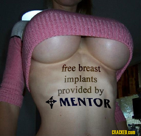 free breast implants provided by MENTOR CRACKED.COM