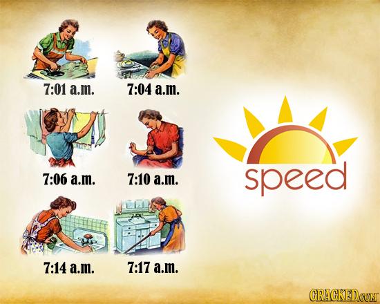 7:01 a.m. 7:04 a.m. speed 7:06 a.m. 7:10 a.m. 7:14 a.mi. 7:17 a.m.