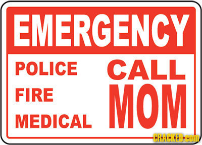 EMERGENCY POLICE CALL FIRE MOM MEDICAL HRACKEDHOID