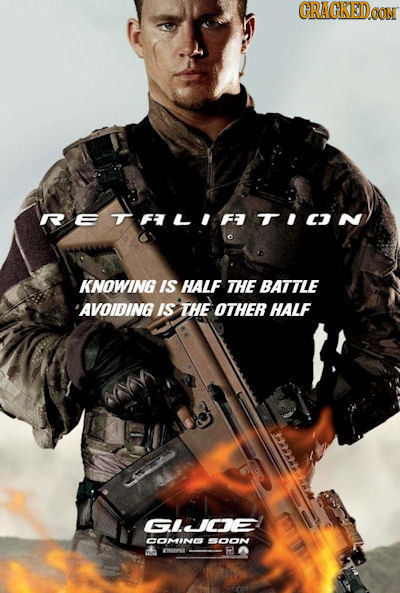 CRAGKEDOON RETFLIFTION KNOWING IS HALF THE BATTLE AVOIDING IS THE OTHER HALF GNIDE AMINC ON CU