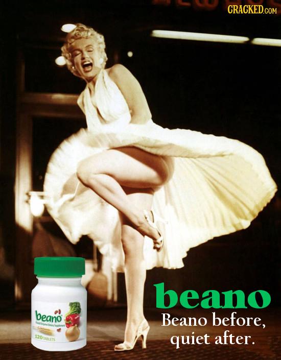 beano beano Beano before, 120U8LES quiet after.