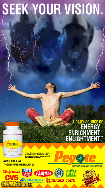 SEEK YOUR VISION. A DAILY SOURCE OF ENERGY ENRICHMENT ENLIGHTMENT Peyote Bre oees NWMHEY Peyote > AVAILARLE AT THESE FINE RETAILERS: (trinethaxypheret