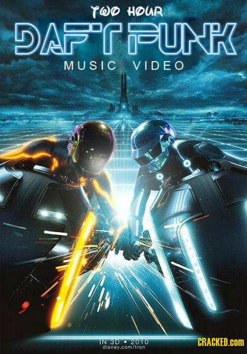 TWO HOUR DAPTOUN MUSIC VIDEO IN 3D 2010 CRACKED.COM disney.com/tron
