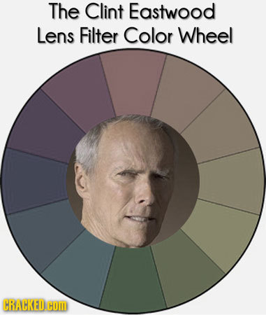 The Clint Eastwood Lens Filter Color Wheel CRACKED.COM