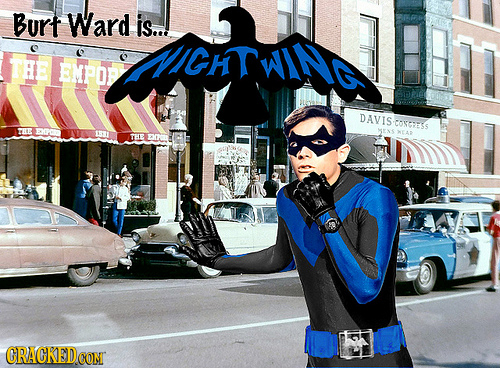 Burt Ward is...! ZMIGH WIN THE EMPOP DAVIS CONTESS THE MENS THE EF