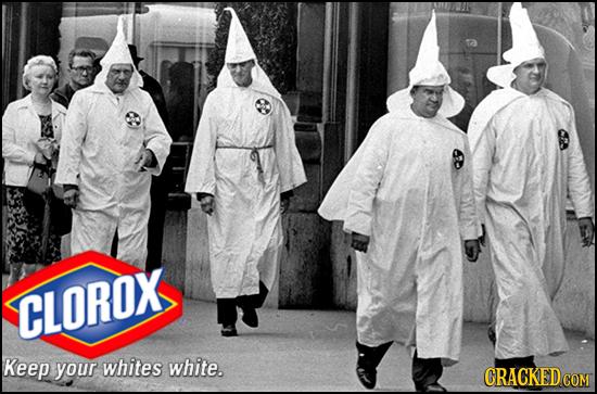 CLOROX Keep your whites white. CRACKEDcO COM