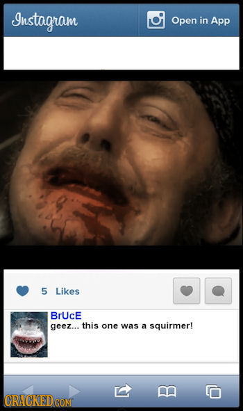 Instagram Open in App 5 Likes BrUcE geez... this one was a squirmer! CRACKEDCO B