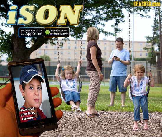 iSON CRACKED Hom O Available on the Available on the App Store Android Market How was practice. champ?