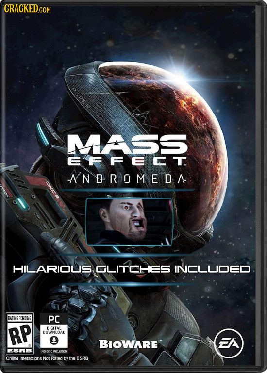 CRACKEDcO MASS EFFECT NDROMEDA HILARIOUS, GLITCHES INCLUOED RATING PENO NG PC RP DICITAL DOWNLOAD BiOWARE ESRB Drsr IMLUICED Online Interactions Not
