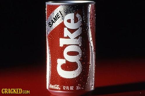 SAME ( Cla Coke 12 FL OZ 354 CRACKED.COM