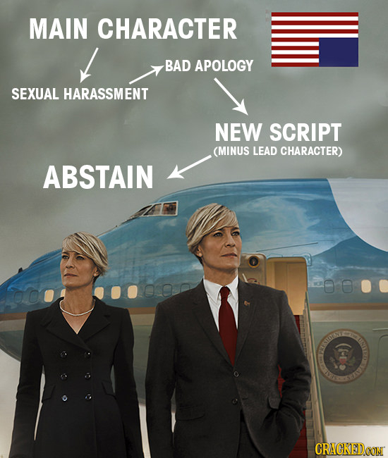 MAIN CHARACTER BAD APOLOGY SEXUAL HARASSMENT NEW SCRIPT (MINUS LEAD CHARACTER) ABSTAIN om I CISTESTIK CRACKEDCON