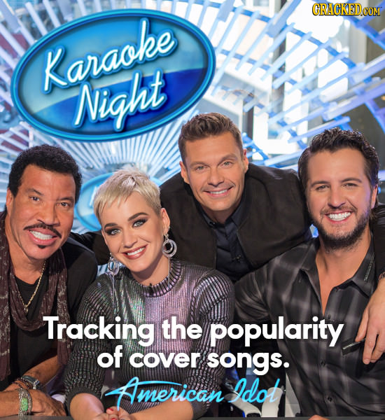 Karaoke Night Night Tracking the popularity of cover songs. American Idot