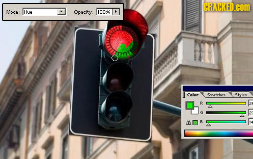CRACKED.COM Mode: Hue Opacity: 1009 Color Swatcbee Styles R B