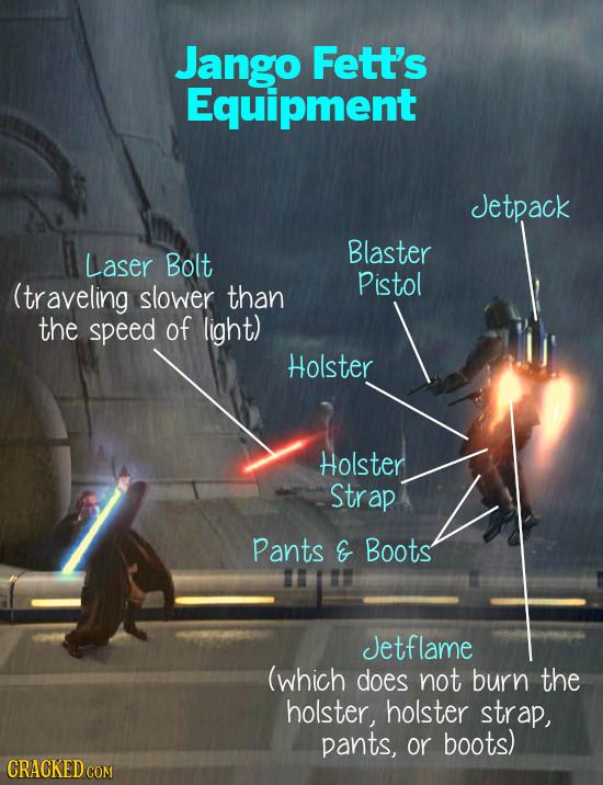 Jango Fett's Equipment Jetpack Blaster Laser Bolt Pistol (traveling slower than the speed of light) Holster Holster Strap Pants G Boots Jetflame (whic