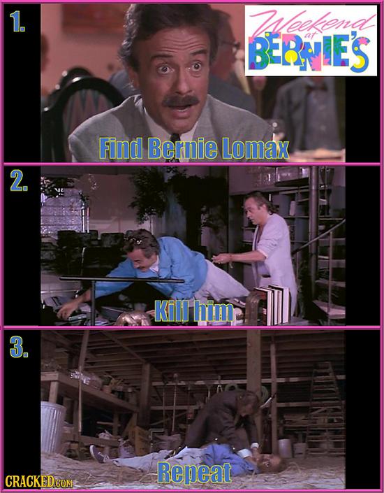 1. Leelend BERNIES Find Bernie Lomax 2. KilI him 3. Repeat CRACKED COM