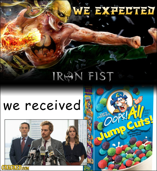 WE EXPELTE IR-N FIST we received All EF X CAPN anDCH'S OOPS! Cuts! Jump CRACKEDCON