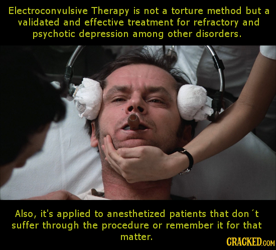 Electroconvulsive Therapy is not a torture method but a validated and effective treatment for refractory and psychotic depression among other disorder