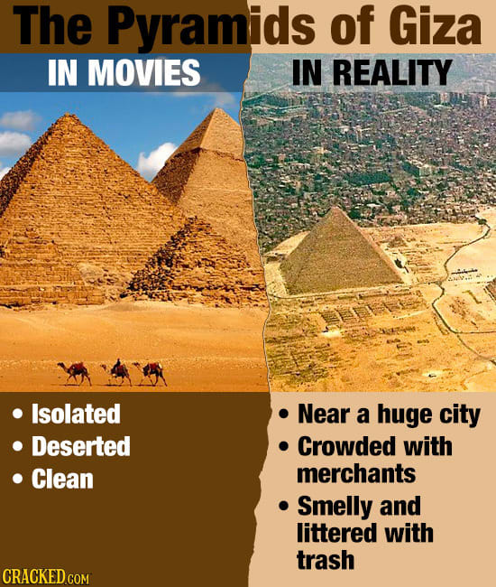 Famous Places You're Picturing Wrong, Thanks To Movies