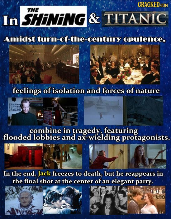 CRACKEDCON THE In SHINING & TITANIC Amidst turn-of-the-century opulence, feelings of isolation and forces of nature combine in tragedy, featuring .flo