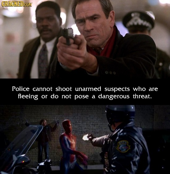CRAGKEDCOM Police cannot shoot unarmed suspects who are fleeing or do not pose a dangerous threat.