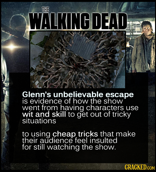 THE WALKING DEAD Glenn's unbelievable escape is evidence of how the show went from having characters use wit and skill to get out of tricky situations