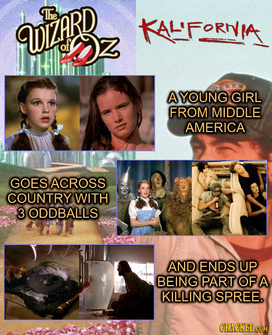 The WEARR of It A YOUNG GIRL FROM MIDDLE AMERICA GOES ACROSS COUNTRY WITH 3ODDBALLS AND ENDS UP BEING PART OF A KILLING SPREE.