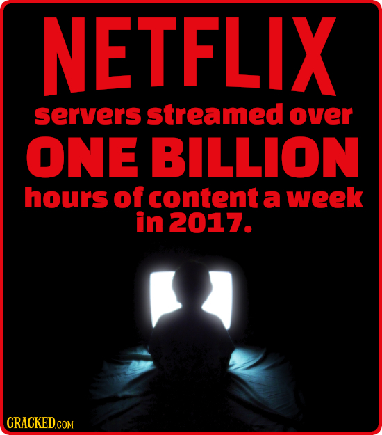NETFLIX servers streamed over ONE BILLION hours of content a week in 2017.